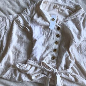 NWT urban Outfitters linen button up dress size l
